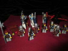 LEGO Castle  Minifigures LOT King , Knight ,Soldiers,Weapons,Armor,Dragon .