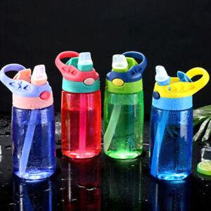 Children Kids Drinking Cup Sports Water Bottle with Straws BPA Free Drinkware