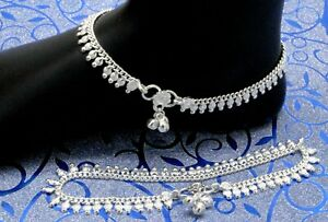 925 Sterling Silver Women Anklets Indian Jewelry Women Anklet Size-10
