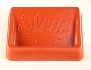 NEW! Vintage Hallmark Plastic Sienna Soap Dish. Burnt Red. Made In U.S.A.