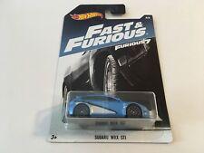 Hot Wheels Fast and Furious Furious 7 Subaru WRX STI Blue Diecast Scale 1:64