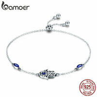 BAMOER Solid 925 Sterling Silver Bracelet LOVEspoil of women With CZ For Jewelry