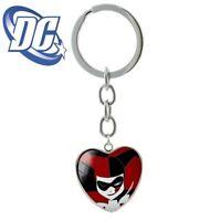 Harley Quinn Heart Keychain Joker BATMAN DC Comics Full Metal  cosplay US seller