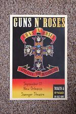 Guns N' Roses Concert Tour Poster 1987 New Orleans Saenger Theatre