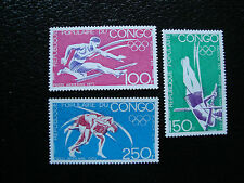 CONGO brazzaville - timbre yvert et tellier aerien n° 150 a 152 n** (A9) stamp