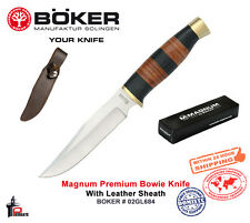 Magnum Premium Bowie Knife with Leather Sheath Boker 02GL684