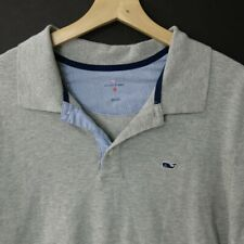 Vineyard Vines Men's  Golf Polo Shirt Size Large L gray short sleeve cotton