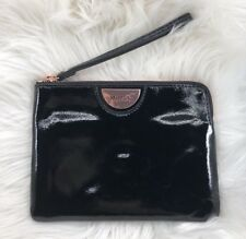 BNWT MIMCO ECHO BLACK ROSE GOLD PLATE MEDIUM POUCH COIN PURSE LEATHER