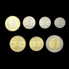[S-2] Saudi Arabia Set 7 Coins, 1 5 10 25 50 Halala 1 2 Ryals, 2016, UNC