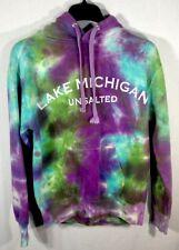"Lake Michigan Unsalted ""HTF RARE"" Tie Dye MV Sport Hoodie Sweatshirt Size S"