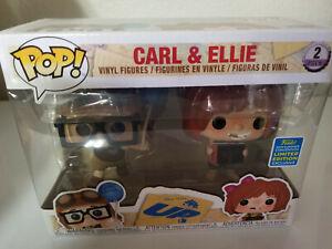 FUNKO POP 2 Pack 2019 SDCC Carl & Ellie Disney Pixar Up Summer Shared