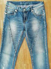 ORIGINAL BLUE MONKEY  JEANS Damen  BM 10003 Vintage Look Blue Skinny 7//8