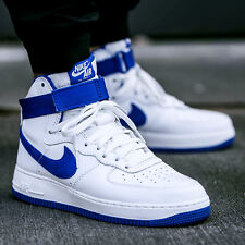 Nike Air Force 1 Hi Retro QS, Men's Basketball Shoe - Size 15  ( White/blue)