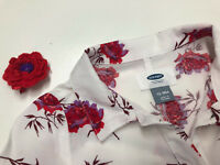 Old Navy Baby Girl Long Sleeves Shirt Floral Dress Diaper Cover-up 12-18 Months