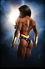 Wonder Woman Original Fine Art Print signed by artist Scott Harben