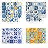 20pcs Retro Floor Tiles Wall Stickers Self-adhesive Waterproof PVC Home Decals