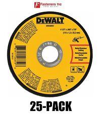 4 1//2 x .045 x 5//8 Dewalt Metal Cutting Wheel DW8424H Type 27 Cut Off Wheel High Performance Thin .045 Metal Stainless Cutting 1//EA