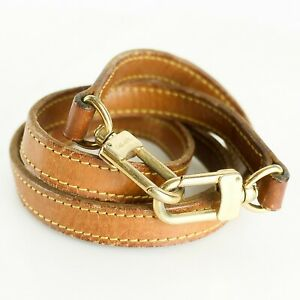 LOUIS VUITTON Leather Shoulder Strap For Pouch Bag Brown 101cm 39.7inches