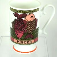 Zodiac Coffee Mug Cup PISCES Arnart Royal Crown Smug Mug by Elena Astrology Fish