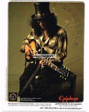 2008 EPIPHONE Les Paul Electric Guitar SLASH advertisement
