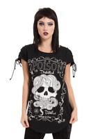 Jawbreaker Poison Rocker Skull Snake Reptile Gothic Nugoth Punk T-shirt Top
