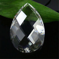 10PC Clear Waterdrop Crystal Glass Beads Pendant Chandelier Ornaments Decor Gift