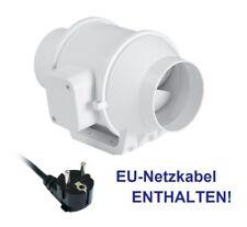 2 STUFIG Schallgedämmter Rohrventilator Lüfter 100 mm + NETZKABEL - EU Garantie