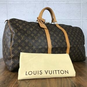 100% Authentic Louis Vuitton Monogram Keepall 60 M41422 Used 2-57