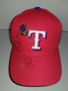 Texas Rangers Cap Hat Johnny Oates Juan Gonzalez Autograph Auto Baseball Pin