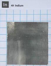 Indium metal foil 99.99% 75um x 62mm x 62mm for laser CPU heatsink