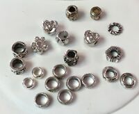 Metal Large Hole Spacer Beads