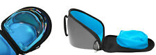 Exalt Le V3 Carbon Paintball Goggle and Lens Case Charcoal Cyan Microfiber