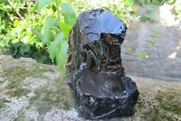 Obsidian crystal Tower Black Protection Glass Natural piece Mexico lava 1.458K
