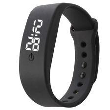 Fashion Womens Mens Rubber LED Watch Date Sports Bracelet Digital Wrist Watch A4