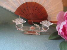 Swarovski Crystal 2 Ball Double Pin Candlestick Holder Retired Old Block Mark