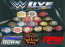 18 WWE Custom Mega Bundle Titles Belts For Jakks/Mattel Wrestling Figures WWF