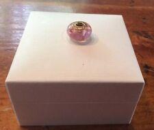 Genuine Pandora 14ct Gold Murano Glass Pink Bead Brand New 75404