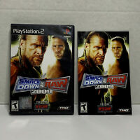 WWE Smackdown vs. Raw 2009 Featuring ECW (Sony PlayStation 2) COMPLETE! TESTED!