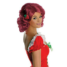 Adult's Deluxe Strawberry Shortcake Fancy Dress Costume Pink Wig Accessories