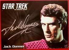 STAR TREK TOS 50th JACK DONNER, Sub Commander Tal LIMITED EDITION Autograph Card