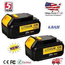 2 X 20 Volt For DEWALT DCB206 20V MAX 6.0Ah Lithium-Ion Battery DCB205 DCB204-2