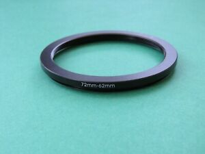 72mm-62mm Stepping Step Down Male-Female Filter Ring Adapter 72mm-62mm
