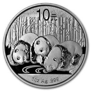2013 China Panda 1 oz. .999 Silver Uncirculated Coin in Mint Capsule