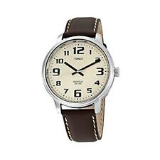 Timex T28201 Indiglo Easy Reader Mens Watch With Indiglo Night-Light Brown - New
