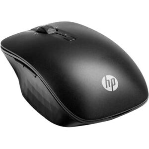 HP Wireless Travel Mouse Black - Bluetooth Connectivity - Control two PCs from O