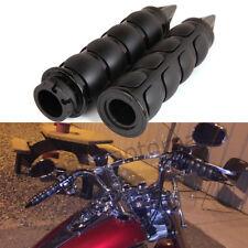 """Motorcycle 1"""" Black Spike Hand Grips Handlebar For Harley Bobber Chopper Cruiser"""