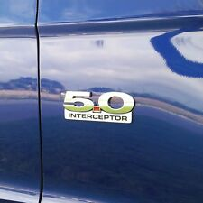 11 12 13 14 Mustang GT 5.0 Interceptor Emblem - Billet with 3M adhesive - 2pcs