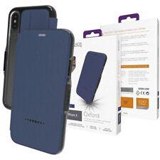 Gear4 Azul Oxford Carpeta Tapa Funda Para IPHONE X / XS D3O Impacto Protección