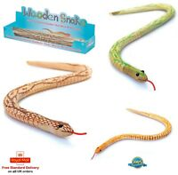 WOODEN SNAKE Swaying Snake Classic Wooden Toy Childrens Kids Gift Prank Toy