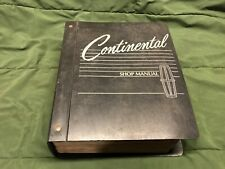1988 LINCOLN CONTNENTAL SHOP MANUAL SERVICE MANUAL FORD OE FACTORY SERVICE